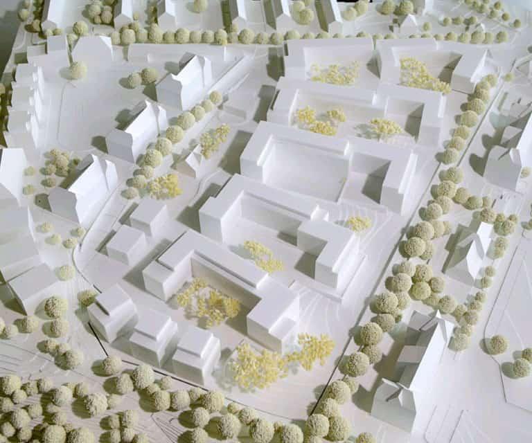 Modell Entwicklungsprojekt Wohnquartier Park Schönfeld Carree