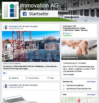 IMMOVATION AG bei Facebbok